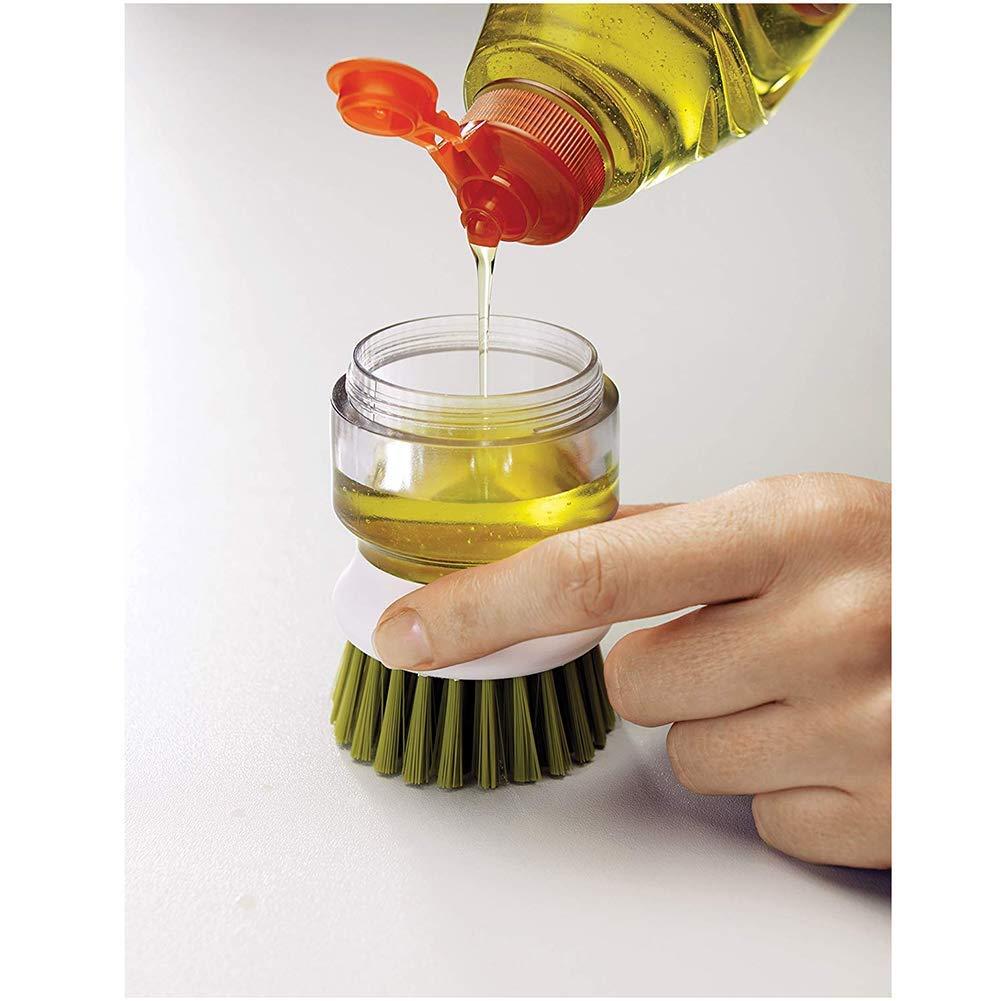 Brosse pour Pot Marysa Brosse de Nettoyage pour Cuisine Vert Brosse pour Lave-Vaisselle Brosse pour Vaisselle Brosse de Nettoyage Automatique avec /étag/ère de Rangement