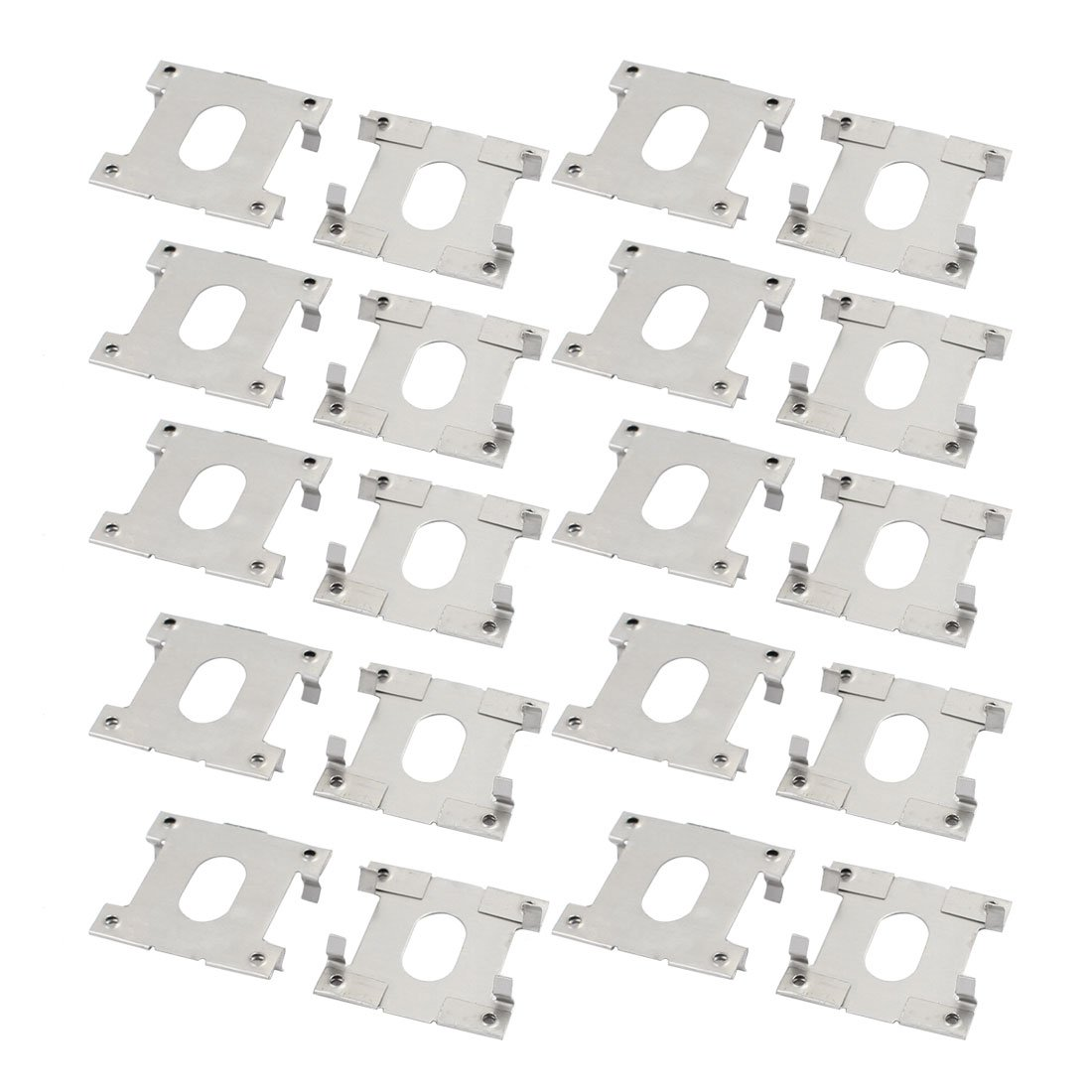 uxcell 20pcs 32mm x 30mm Stainless Steel Solar Conducting Strip Roof Mounting Bracket