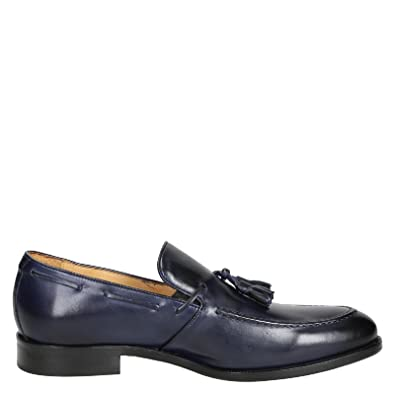 Men's 07013FORMA40NAIROBIOCEANO Blue Leather Loafers