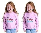 Its My Half Birthday Toddler Long Sleeve Sweatshirt Twin Set Red 2T