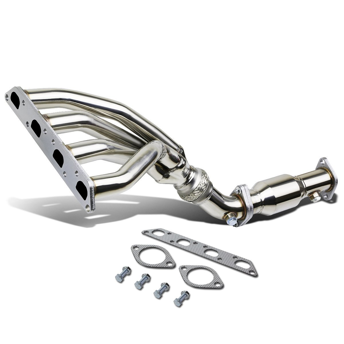 DNA MOTORING HDS-MC02-T2 Stainless Steel Exhaust Header Manifold