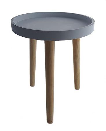 Deko Holz Tisch 36x30 cm - grau - kleiner Beistelltisch Couchtisch ...