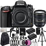 Nikon D750 DSLR Camera with AF-S NIKKOR 24-120mm f/4G ED VR Lens - International Version (No Warranty) 64GB Bundle 34PC Accessory Kit