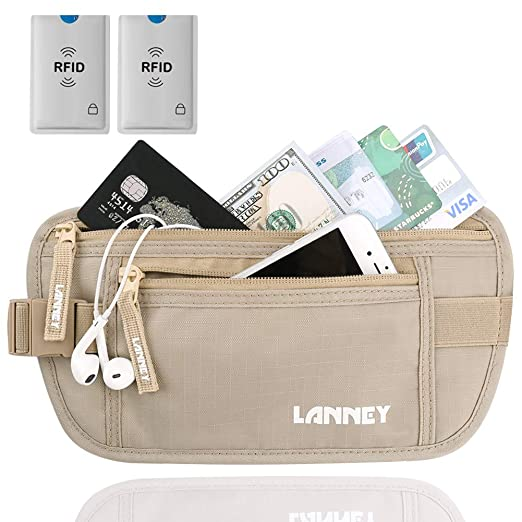 Travel Money Belt Blocking Wallet
