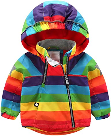 Moyikiss Studio Kids Baby Boy Girl Casual Outerwear Cartoon Printed Pattern Zipper Hooded Coat/&Jacket