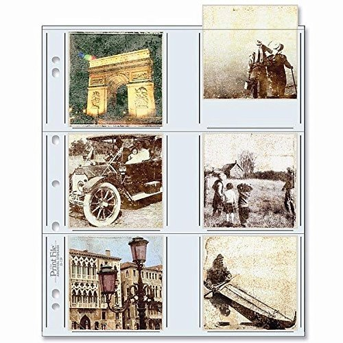 Archival Album (Archival Protector Pocket Pages for INSTAGRAMM 3.50x3.50 prints pks of 25s - 3.5x3.5)