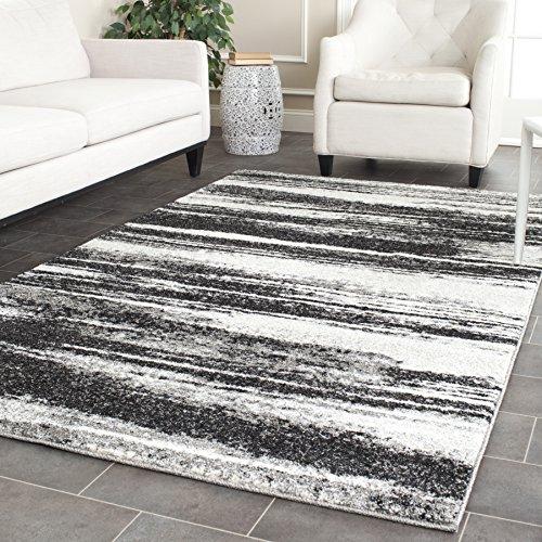 Beige Modern Rug - Safavieh Retro Collection Modern Abstract Dark Grey and Light Grey Area Rug (6' x 9')