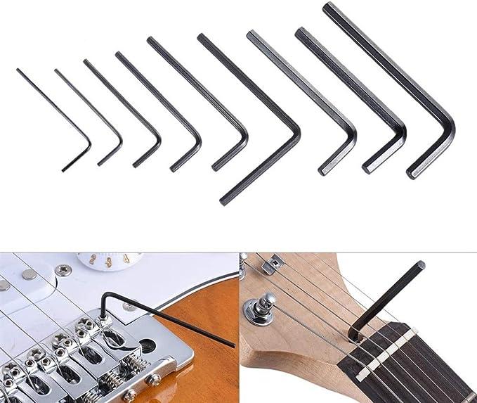 9pcs guitarra baja Cuello puente Tornillo Tensor de ajuste de ...