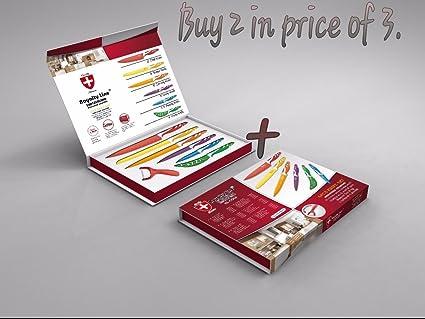 Compra Super Lux 6 piezas juego de cuchillos Swiss ...