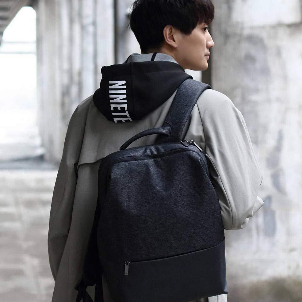 F.S.M. New 90FUN Urban City Simple Backpack 14inch Laptop Waterproof Mi Rucksack Daypack School Bag - Dark Grey by F.S.M.