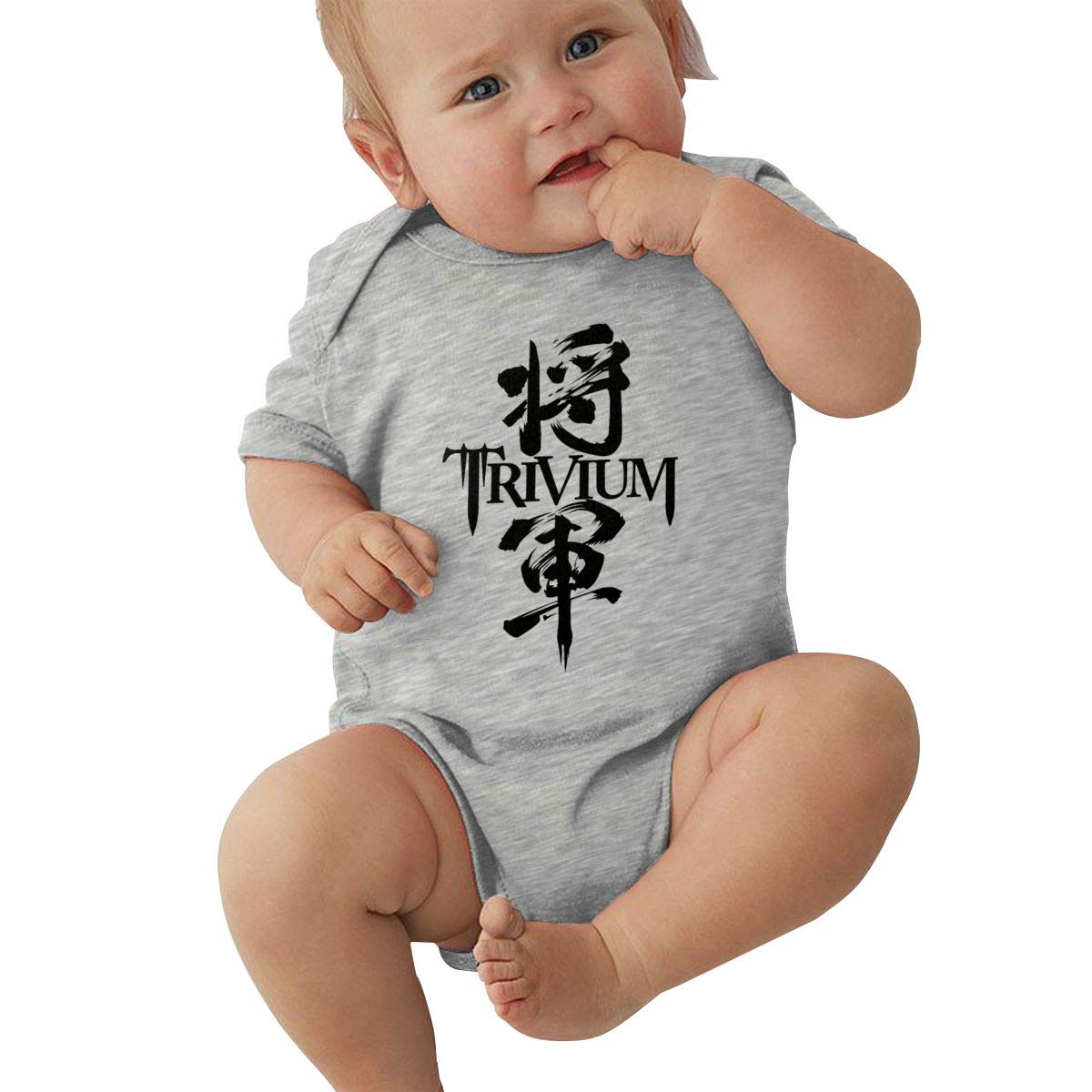 Smooffly Babys Bodysuit Clothes Trivium Cotton Short Sleeve Baby Playsuits Clothing