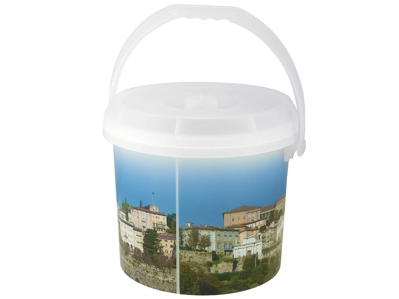 Bormioli Rocco Dem Dekor Mülltonne-Alles, Kunststoff, 30x 30x 25cm 30x30x25 cm Weiß/Bunt