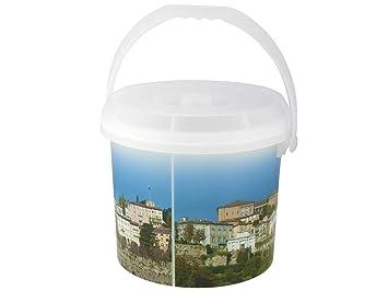 Bormioli Rocco Dem Dekor Mülltonne-Alles Kunststoff 30x 30x 25cm 30x30x25 cm Weiß/Bunt