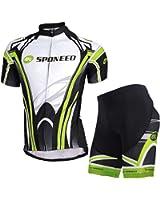 Sponeed Bike Jersey Men's Biking Shirt Shorts Padded Breathable Cycling Jersey
