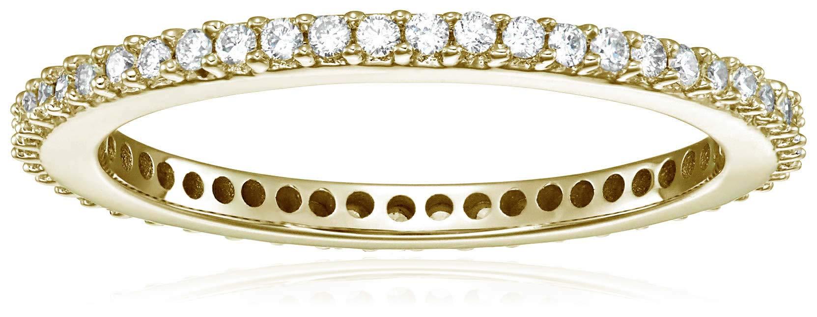 Vir Jewels 1/2 cttw Diamond Eternity Ring 14K Yellow Gold Wedding Band Size 6