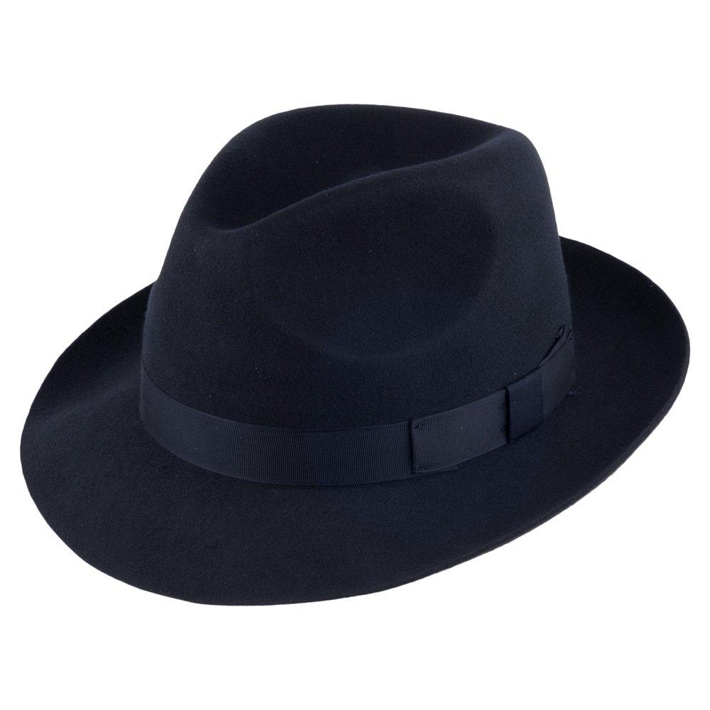 38acb8d3819947 Village Hats Men's Fedora Hat - blue - Medium: Amazon.co.uk: Clothing