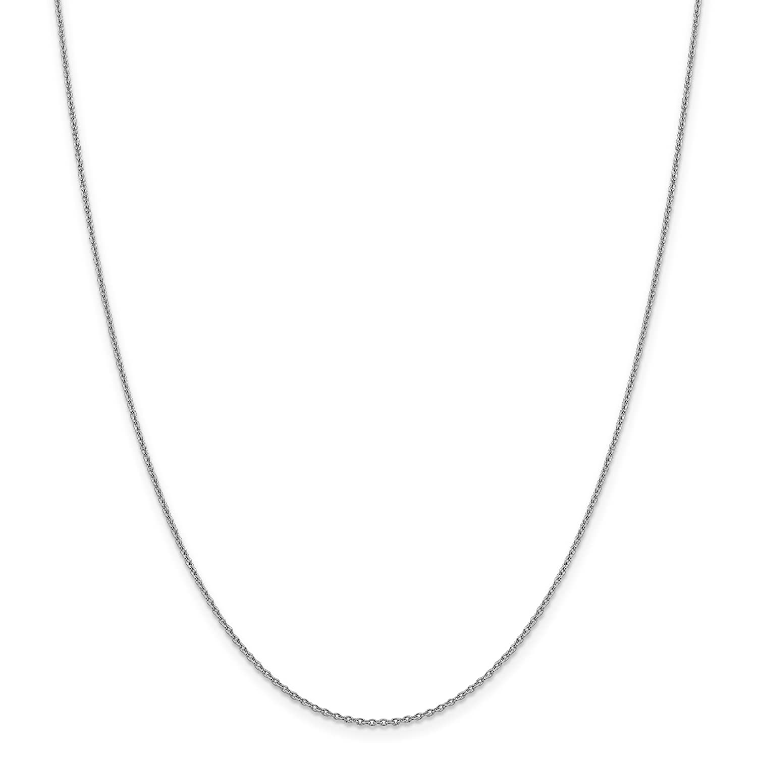 14k White Gold 1.4mm Lobster Cable Chain Necklace