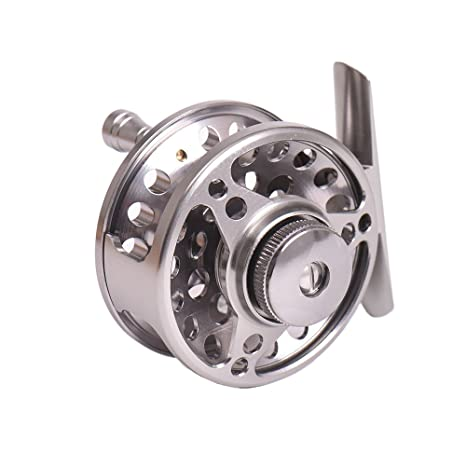 Docooler Fly Fishing Reel Right Handed Aluminum Alloy Smooth Rock Ice Fishing Reels Fishing Accessories