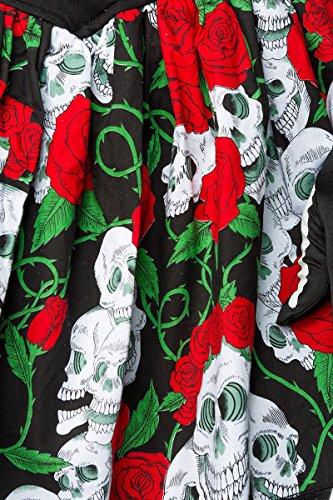 the MASK A80006 by Dead` schwarz Fasching Größe `Day Halloween of Karneval 40;Farbe PARADISE Kostüm vSqwWRtx4Y