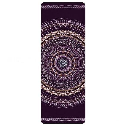 Trend Fabric Yoga Mat Gamuza Impresión Fitness Mat Ultra-Delgada Portátil Antideslizante Toalla De Goma