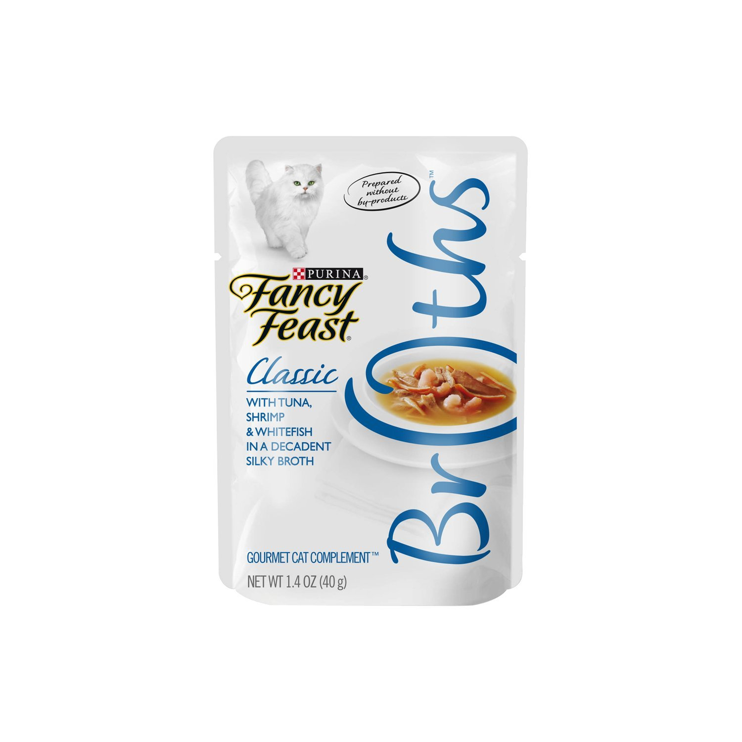 Purina Fancy Feast Broths Classic Gourmet Cat Complement Multipack - (16) 1.