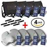 Sillis Lower Back Pain Pillow + Tailbone Seat Cushion + Reusable Microwave Heat Pads 4 PACK BUNDLE - Our Best Back Pain Kit! - You Get a 4 Lumbar Back Cushions + 4 Coccyx Cushions + 8 Hot Cold Packs