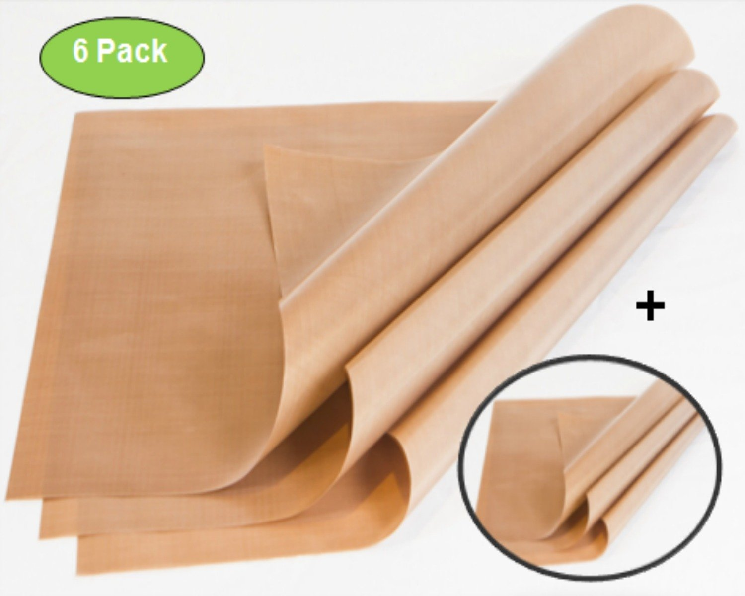 Zuitcase 6-Pack Telfon Sheet for Heat Press – 5MM Thickness is 3X Thicker than Standard PTFE Craft Mats, Brown 16 x 20, Heavy Duty Non-Stick Liner, Great Polymer Clay Sheet, Rubber Stamping Supplies by Zuitcase