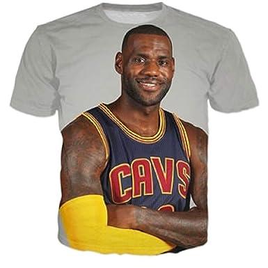 the latest afbf8 b886c Amazon.com: T-Shirts Star Lebron James 3D Print Fashion T ...