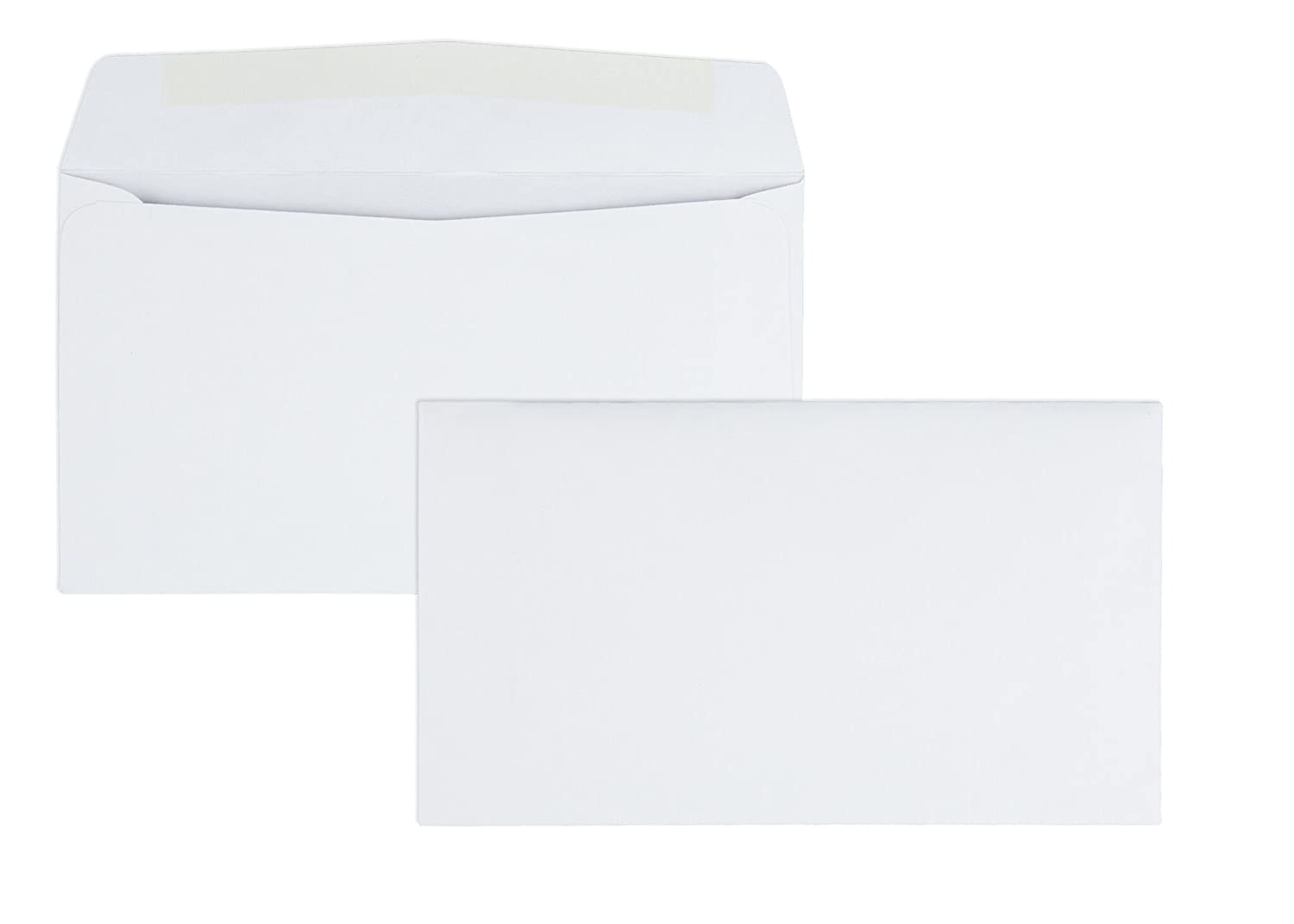 #6-3/4 Business Envelopes with a Gummed Flap for Standard Remittance Business Mailing, 24 lb White Wove, 5-3/8 x 6-1/2, 500 per Box (90070)