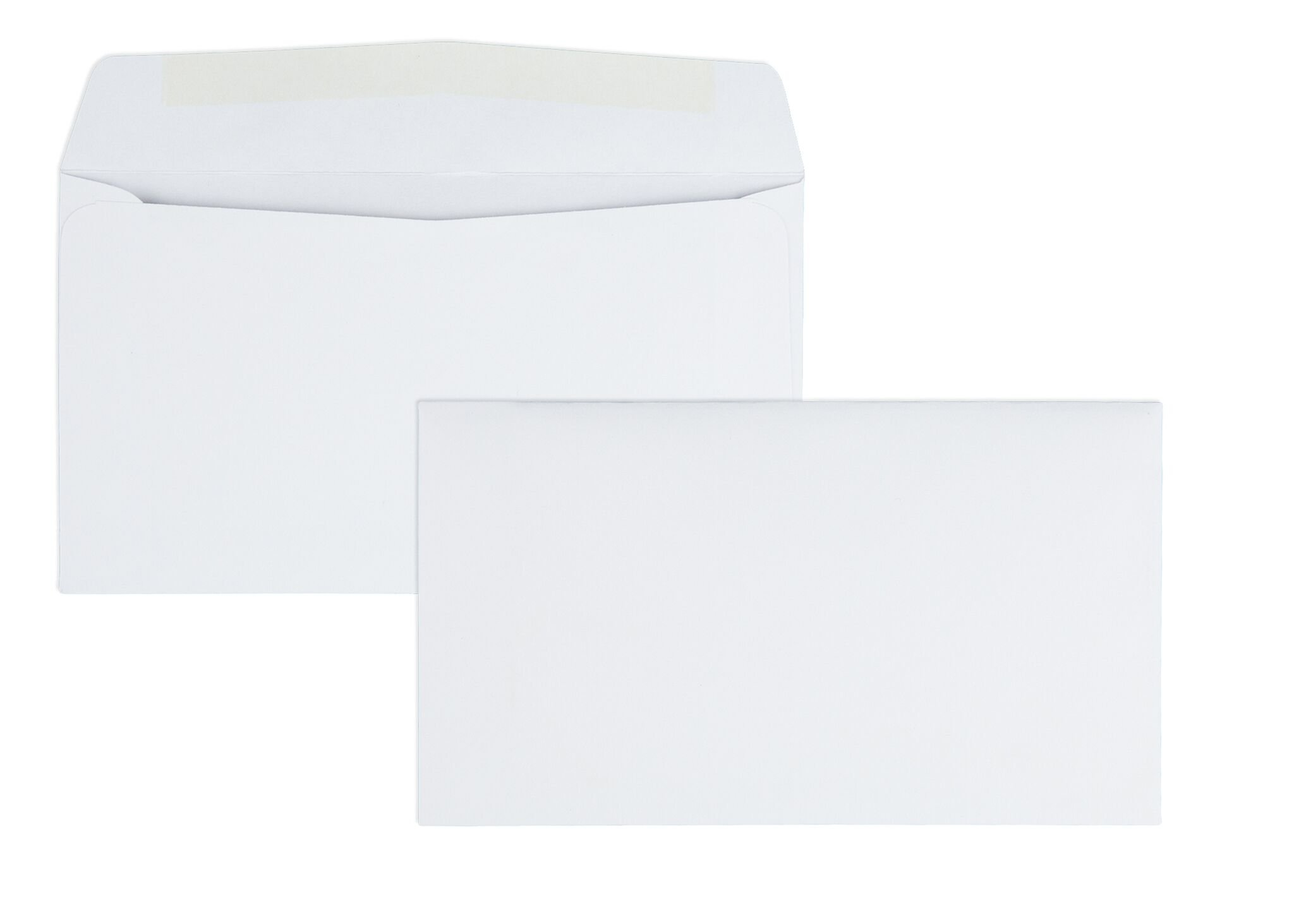 Quality Park #6-3/4 Business Envelopes with a Gummed Flap for Standard Remittance Business Mailing, 24 lb White Wove, 5-3/8 x 6-1/2, 500 per Box (90070)