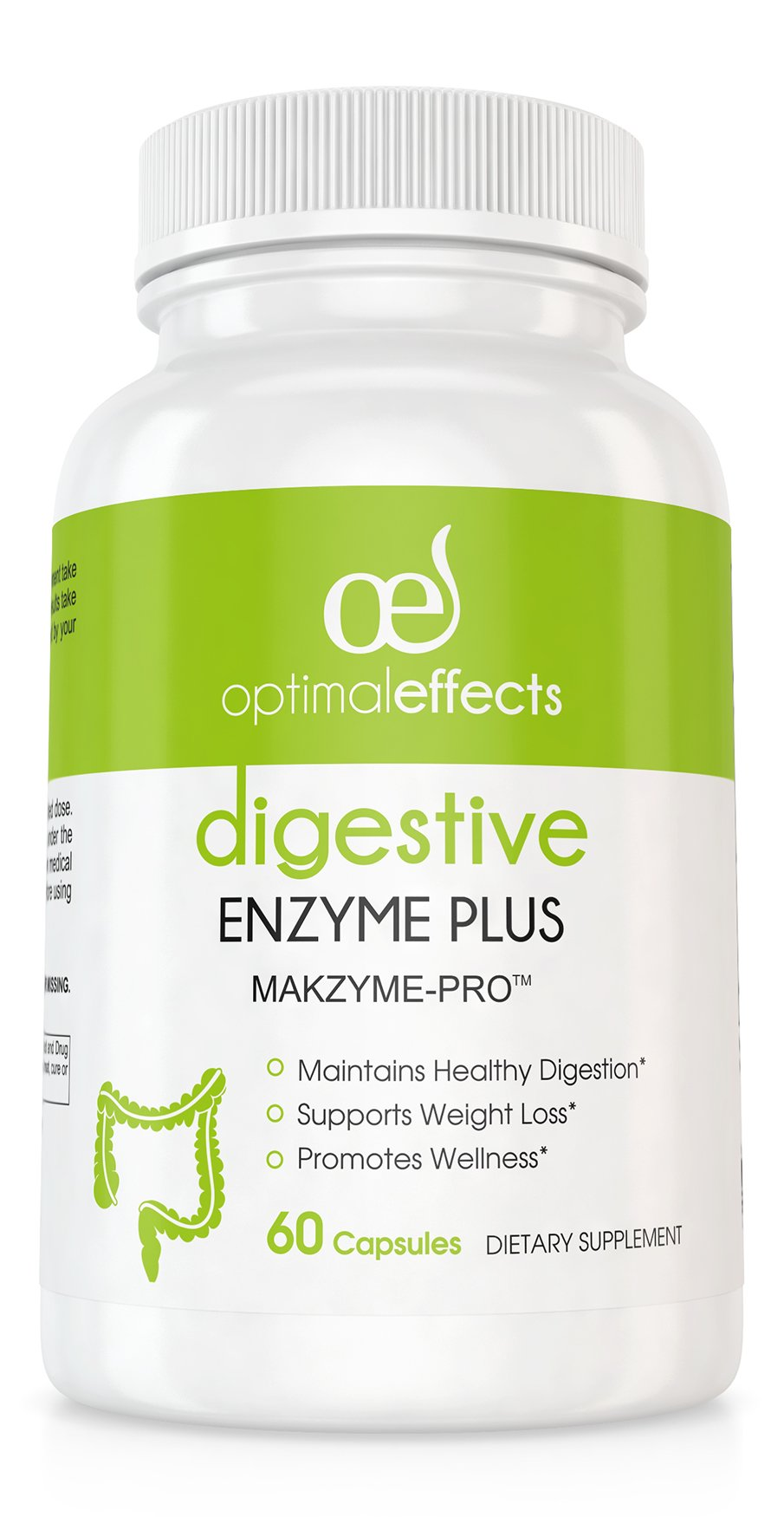 Digestive Enzymes by Optimal Effects - Improve Digestive Support, Nutrition Absorption, and Diminish Bodily Discomfort. Powerful Enzyme Formula in Natural Supplement Form - 60 Veggie Capsules
