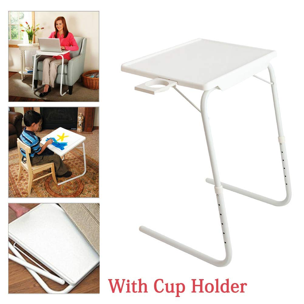 Folding table coffee table sofa side table tv tray snack table assembled bed table folding laptop table portable breakfast tray desk for home bedroom dorm