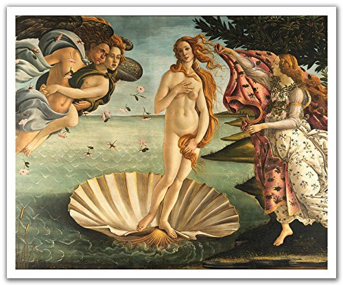 JP London POSLT2254 uStrip Lite Botticelli Venus Removable Wallpaper Decal Sticker Mural Masters Collection, 24-Inch x 19.75-Inch