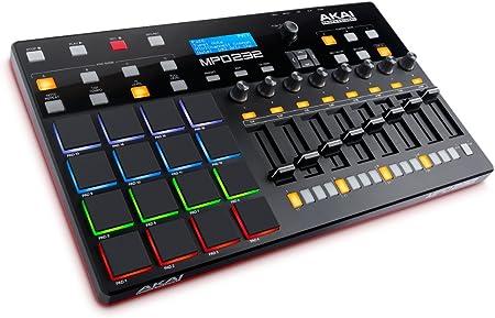 AKAI Professional MPD 232 - Controlador USB MIDI ultra-portátil con 16 pads MPC, secuenciador por pasos y controles de producción completamente ...