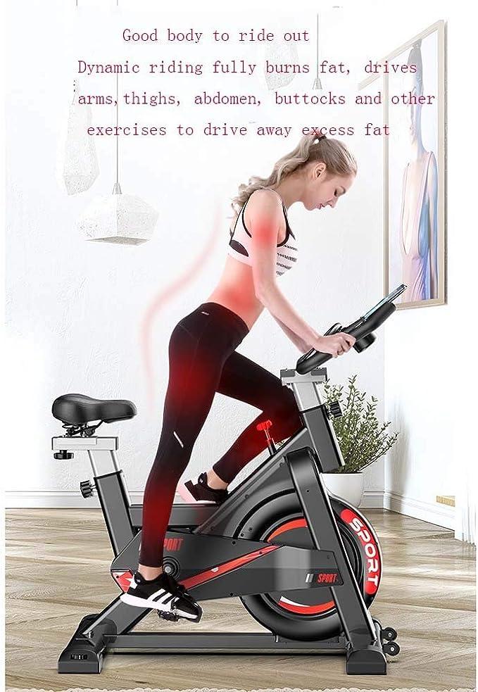 gro/ßes Tr/ägheitsschwungrad Stufenlose Widerstandseinstellung Studioqualit/ät mit Pulsmesser Benutzergewicht bis 150kg Dripex Ergometer Heimtrainer Fahrrad Fitness Bikes