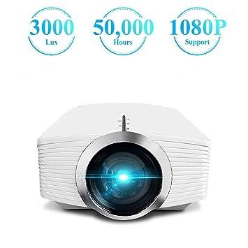Proyector, Video LCD de 3000 Lux actualizado con Soporte de Bolsa ...