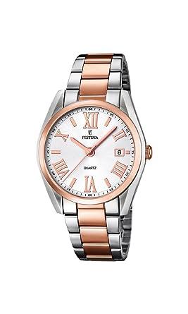 Festina F16795/1 - Reloj de Cuarzo para Mujer, con Correa de Acero Inoxidable, Color: Amazon.es: Relojes