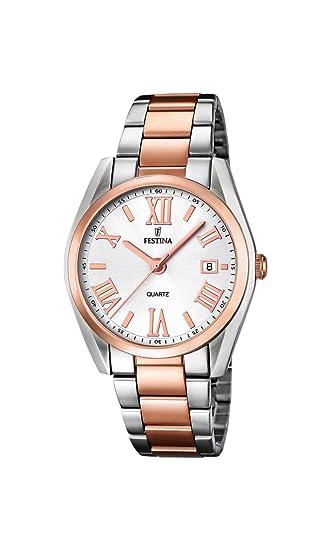 Festina F16795/1 - Reloj de cuarzo para mujer, con correa de acero inoxidable