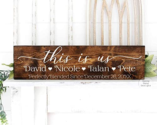 3D Text Rustic Chic Modern Farmhouse Fixer Upper Living Room Decor Wood Sign This is Us Shiplap Wall Decor