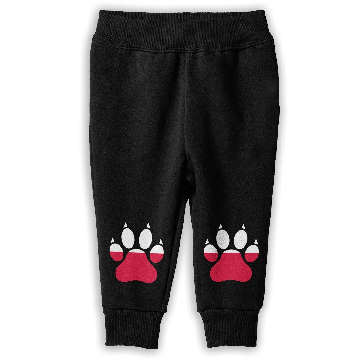 Baby Boys Sports Pants Poland Flag Dog Paw Sweatpants