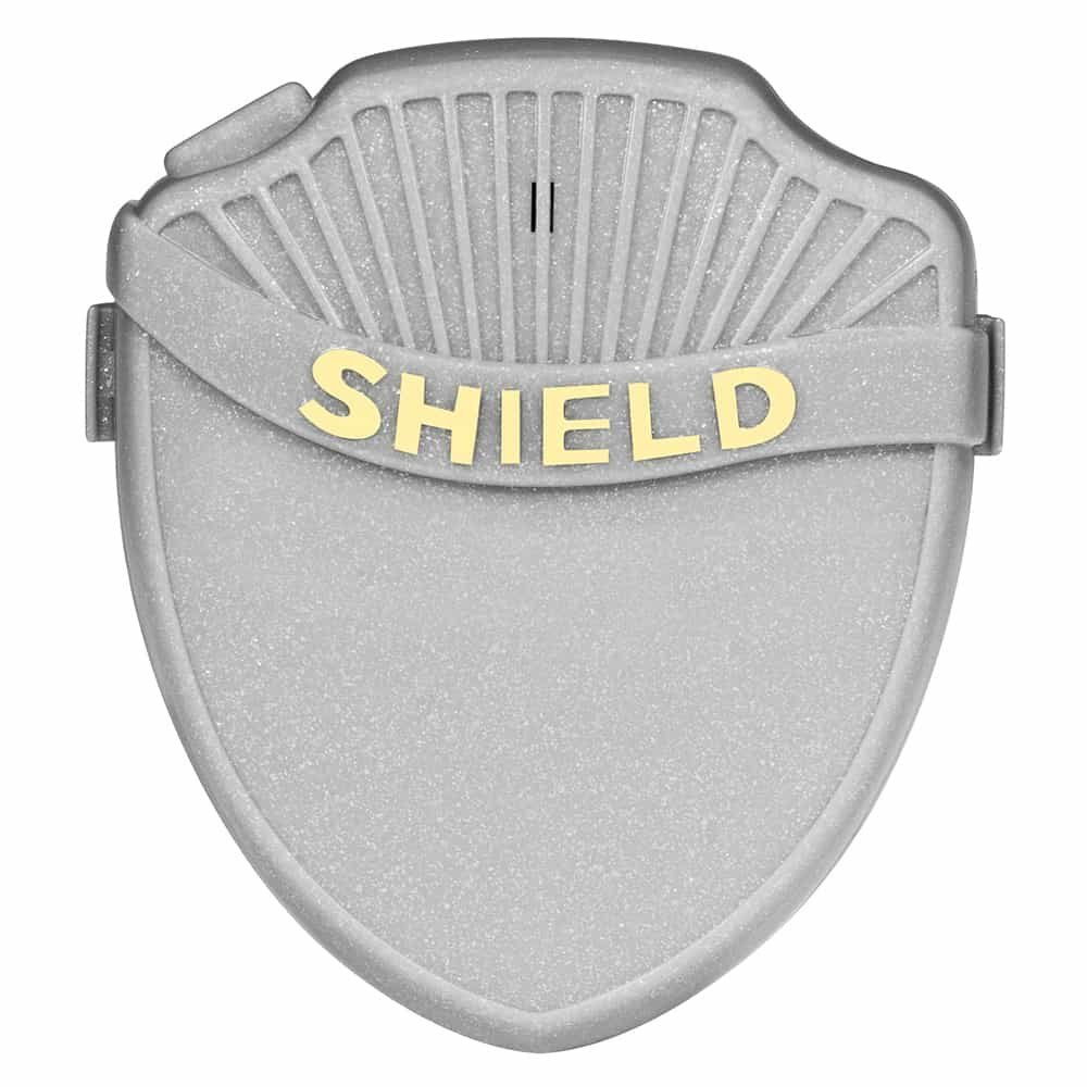 Shield Max Bedwetting Enuresis Alarm for Boys and Girls with 8 Loud Tones, Light and Vibration. Full Featured Bedwetting Alarm for Deep Sleepers to Stop Nighttime Bedwetting, Silver