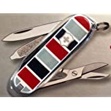 Victorinox Swiss Army Knife Red and Blue Stripe Classic SD 56226 53226 New