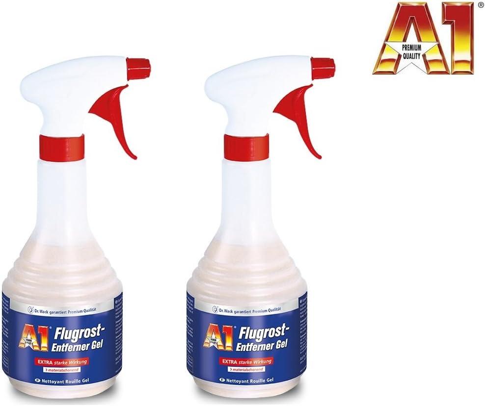 A1 Premiumprodukt 1 Liter 2 X 500 Ml Dr Wack Auto Flugrost Entferner Flugrostentferner Rostlöser Auto