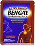 Bengay Pain Relieving Patch, Ultra Strength, Regular Size, 5-Count Patches (Pack of 3)