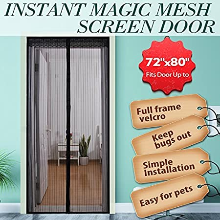 Surpass 72w x 80h magnetic screen door for french doors surpass 72quotw x 80quoth magnetic screen door for planetlyrics