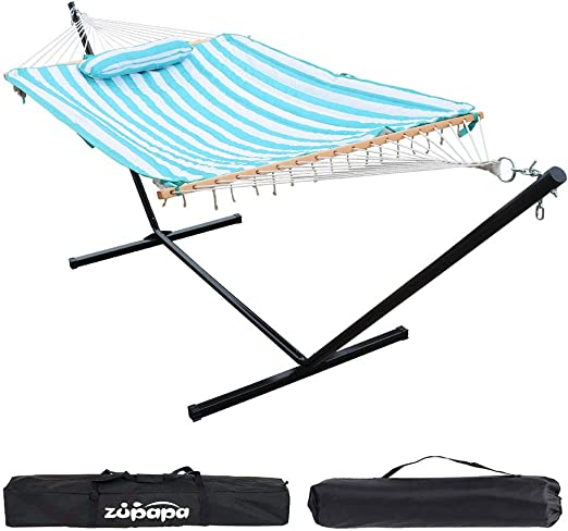 Zupapa Cotton Rope Pad Hammock - The Best Spreader Bar Hammock With Stand