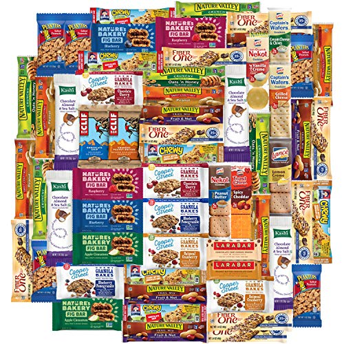 Snack Chest Healthy Bars and Snack Package, 65 Count (Best Healthy Snacks For Work)