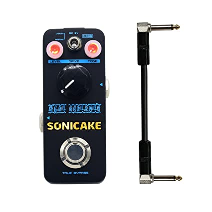 Sonicake Blue Skreamer Overdrive Effect Pedal Dual-Mode With Warm Iconic  TS-style Drive Sound Guitar Pedal 6 Inch Cable Included