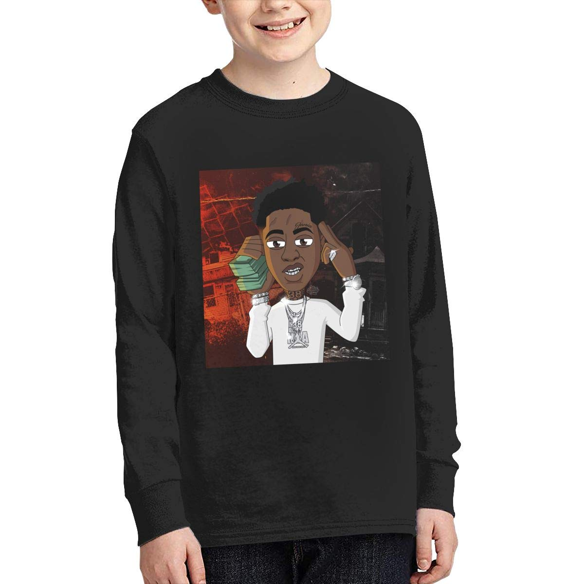 Optumus Youngboy Cartoon Kids Sweatshirts Long Sleeve T Shirt Boy Girl Children Teenagers Unisex Tee