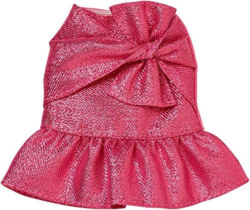 Barbie Pink Metallic Bow Peplum Skirt Fashion
